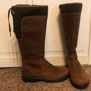 Clark's Brown Leather Lined Zipper Boots Size 7.5
